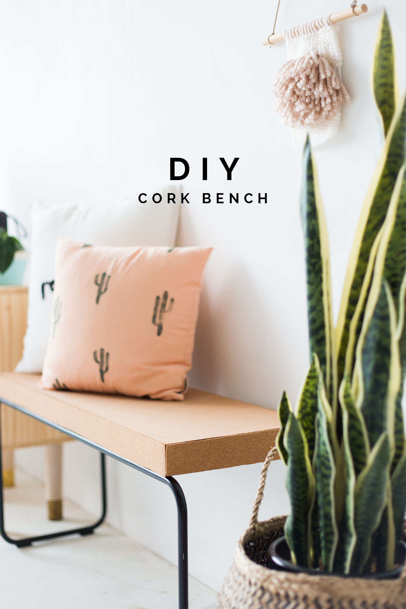 DIY Cork Bench @fallfordiy
