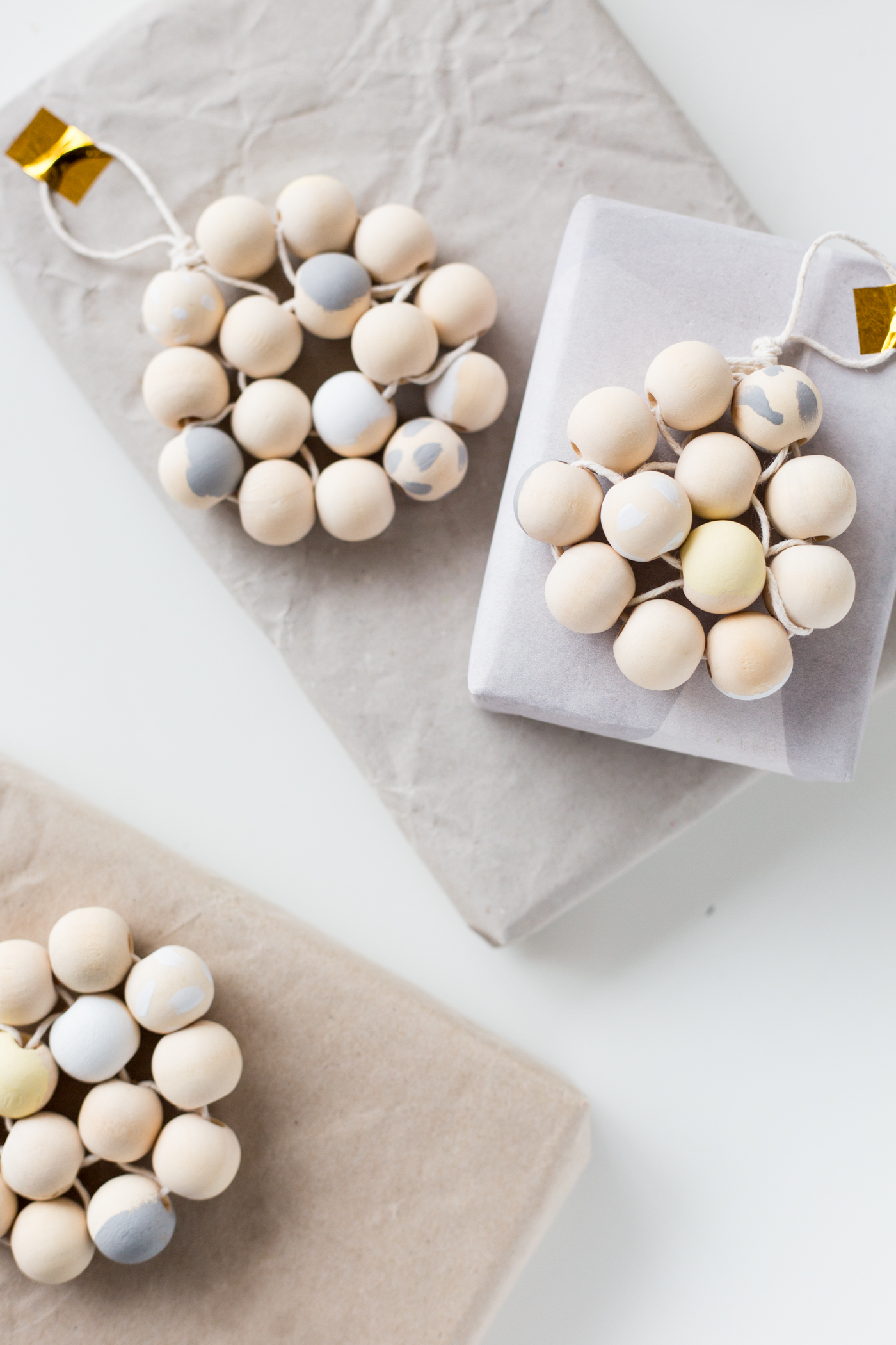 DIY Beaded Gift Toppers