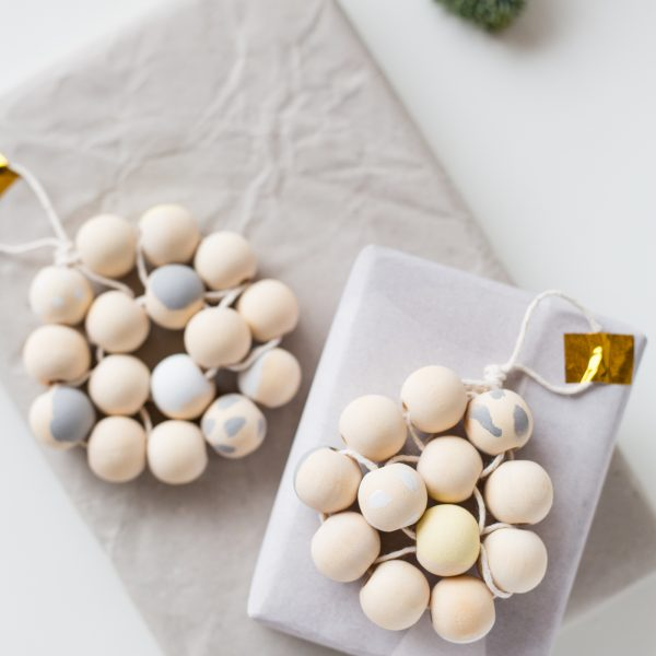 12 Shades of Christmas Day Four   DIY Beaded Gift Toppers
