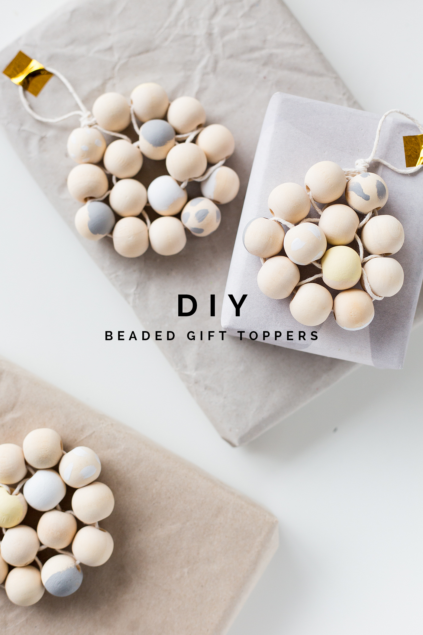 DIY Beaded Gift Toppers with Dulux | @fallfordiy