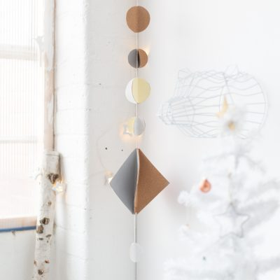 12 Shades of Christmas Day Nine | DIY Cork Christmas Hanging Garland