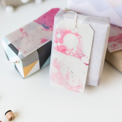 12 Shades of Christmas Day Two | DIY Marble Gift Labels