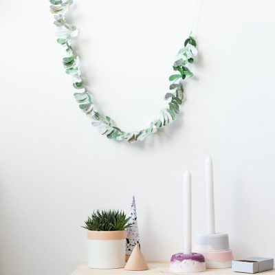 12 Shades of Christmas Day Six | DIY Paper Leaf Garland