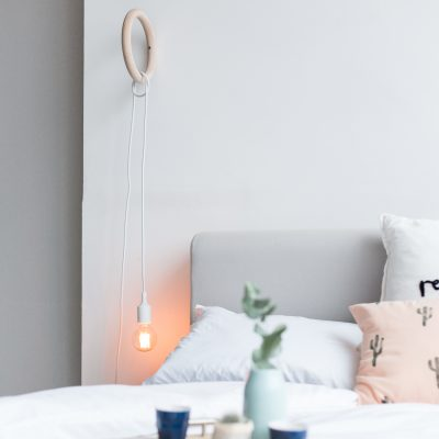 Brighten up your Bedroom Decor with this DIY Gym Ring Hanging Lamp