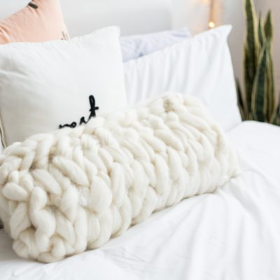 DIY Arm Knitted Cushion Cover