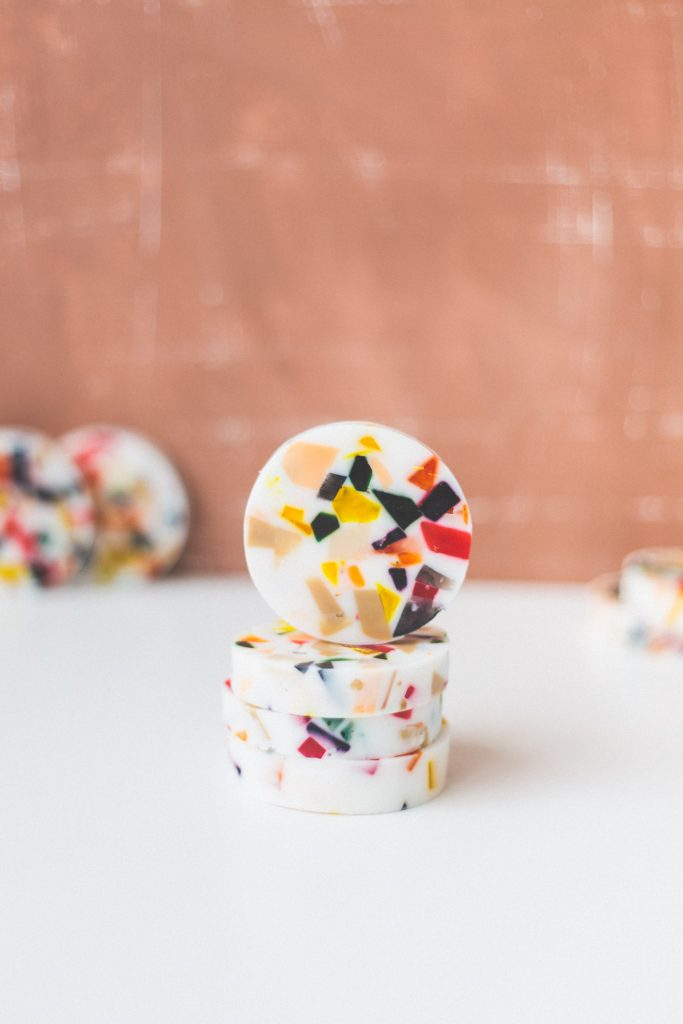 DIY Terazzo Style Soap Slices | @fallfordiy