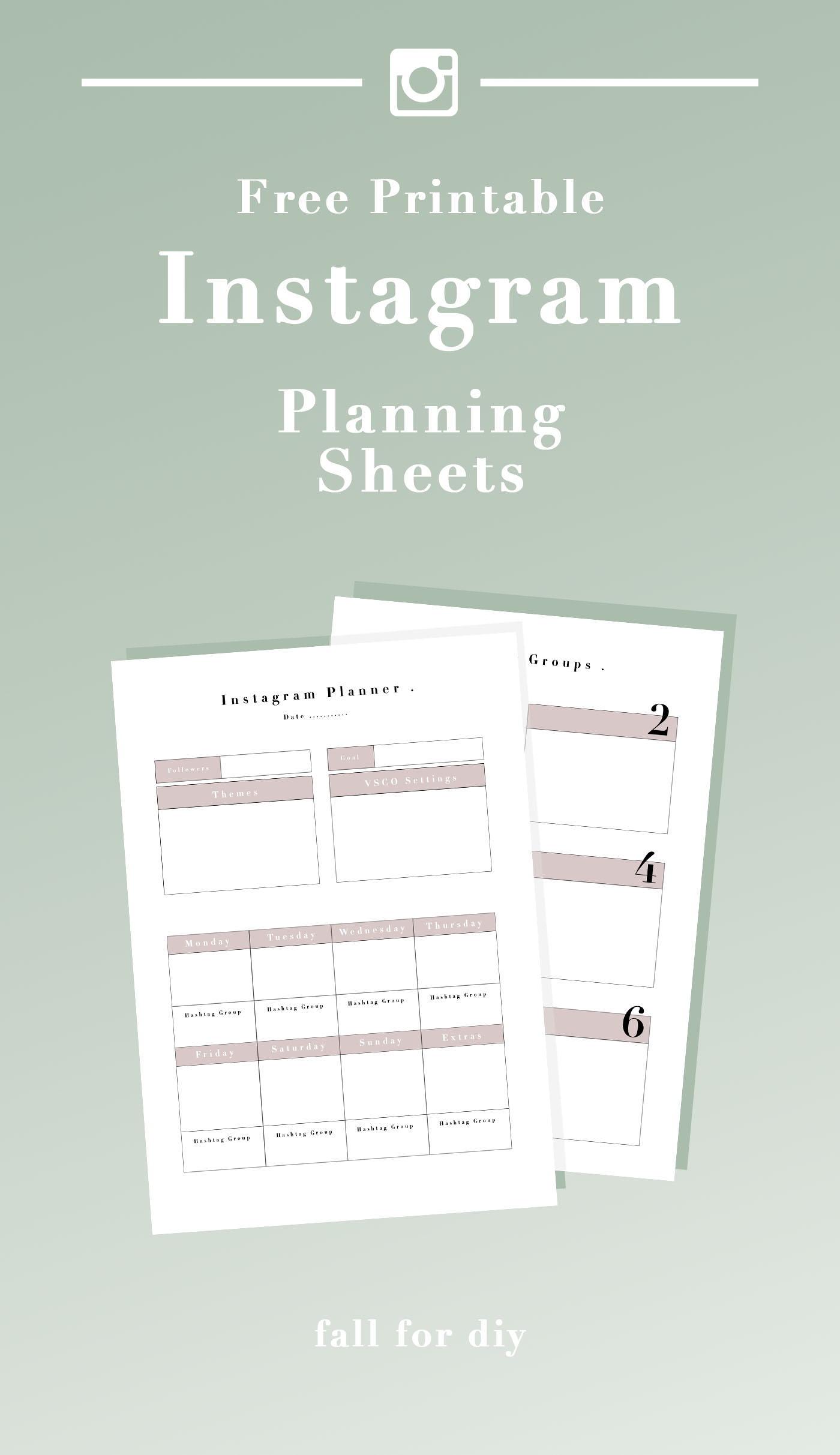 Grow your Following: Free Printable Social Media Planner for Instagram