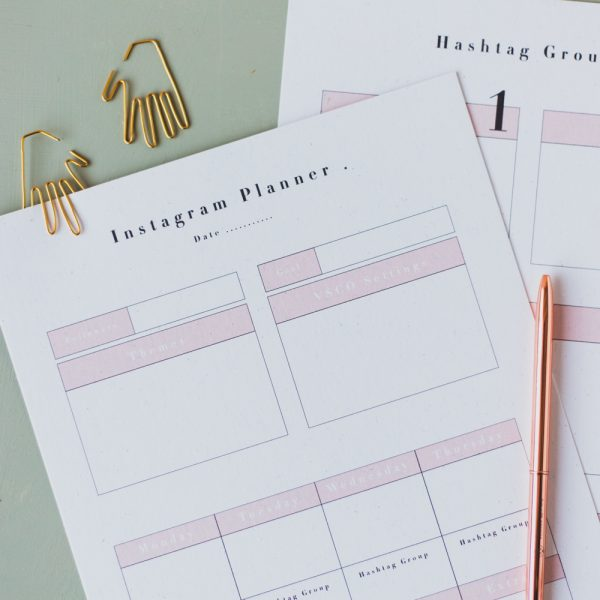 Free Printable Social Media Planner | Instagram