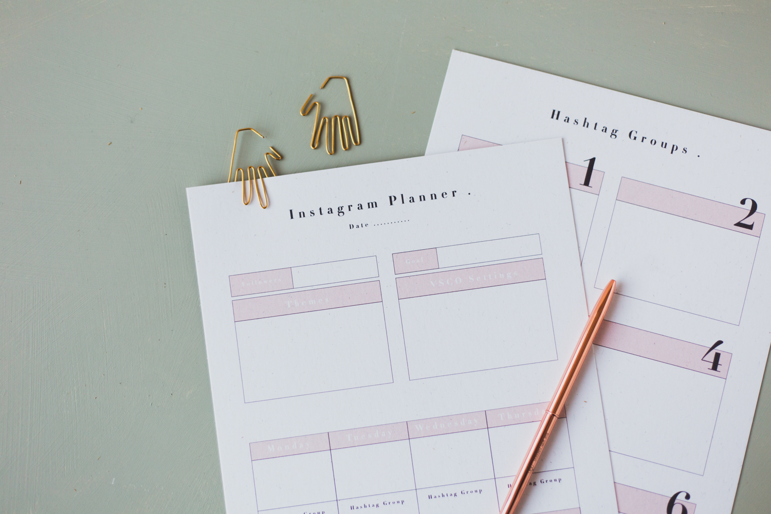 Grow your Following: Free Printable Social Media Planner for Instagram | @fallfordiy