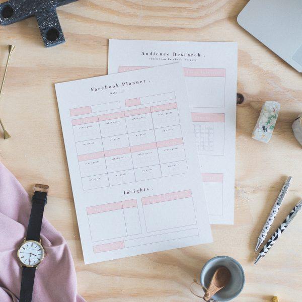 Free Printable Social Media Planners | Facebook