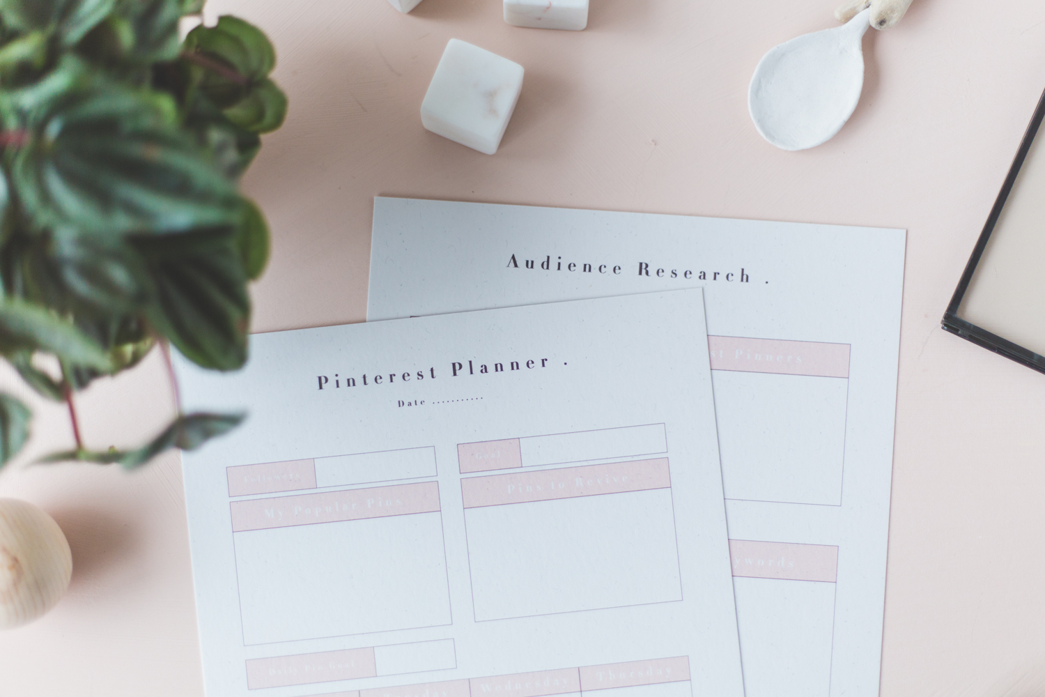 Free Printable Social Media Pinterest Planners
