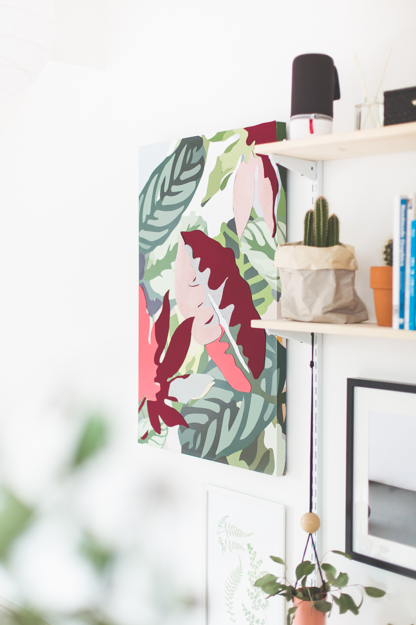 DIY applique fabric canvas | @fallfordiy