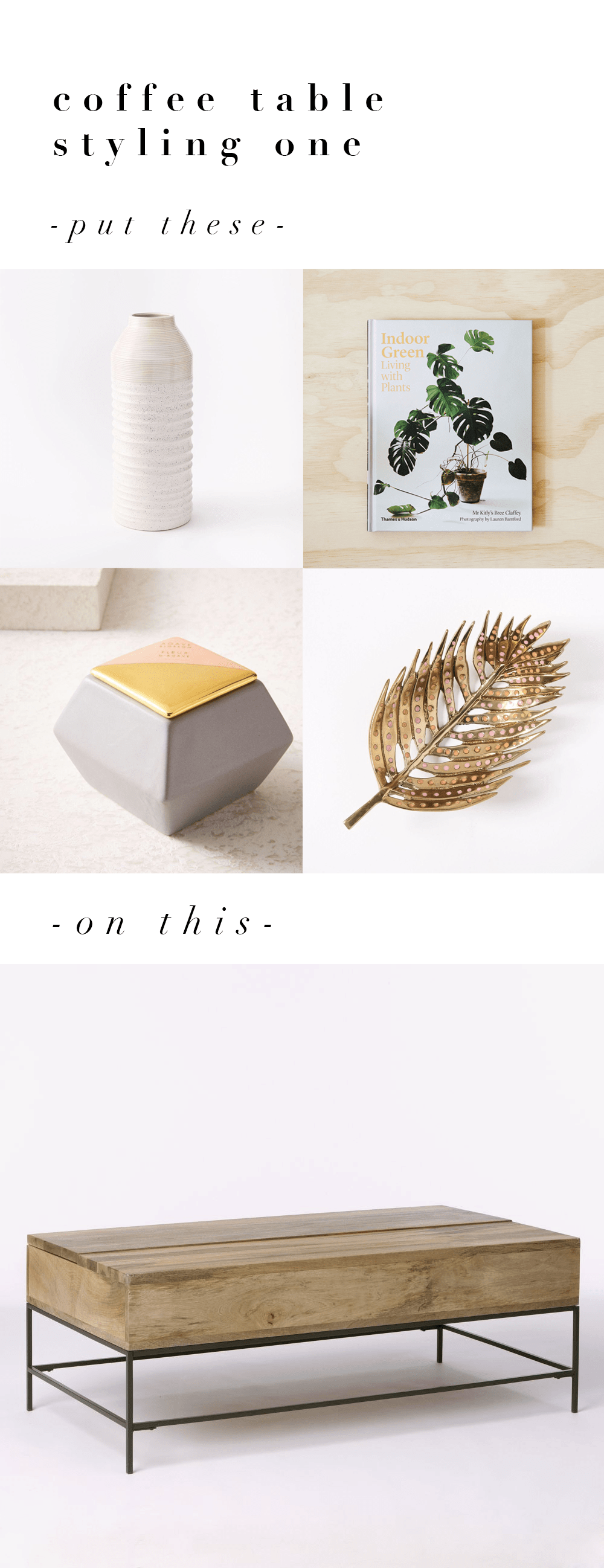 Three Ways to Style a Coffee Table | @fallfordiy