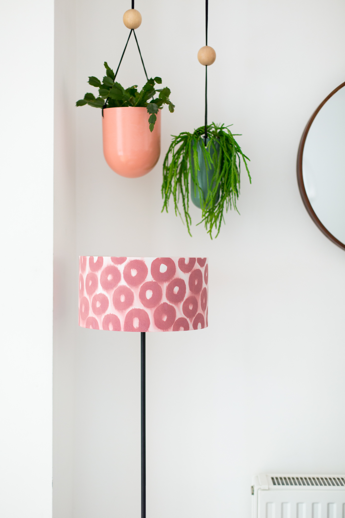 Paint this DIY Print Effect Patterned Lampshade