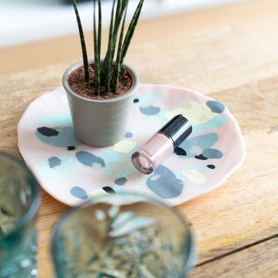 DIY Polymer Clay Coffee Table Tray