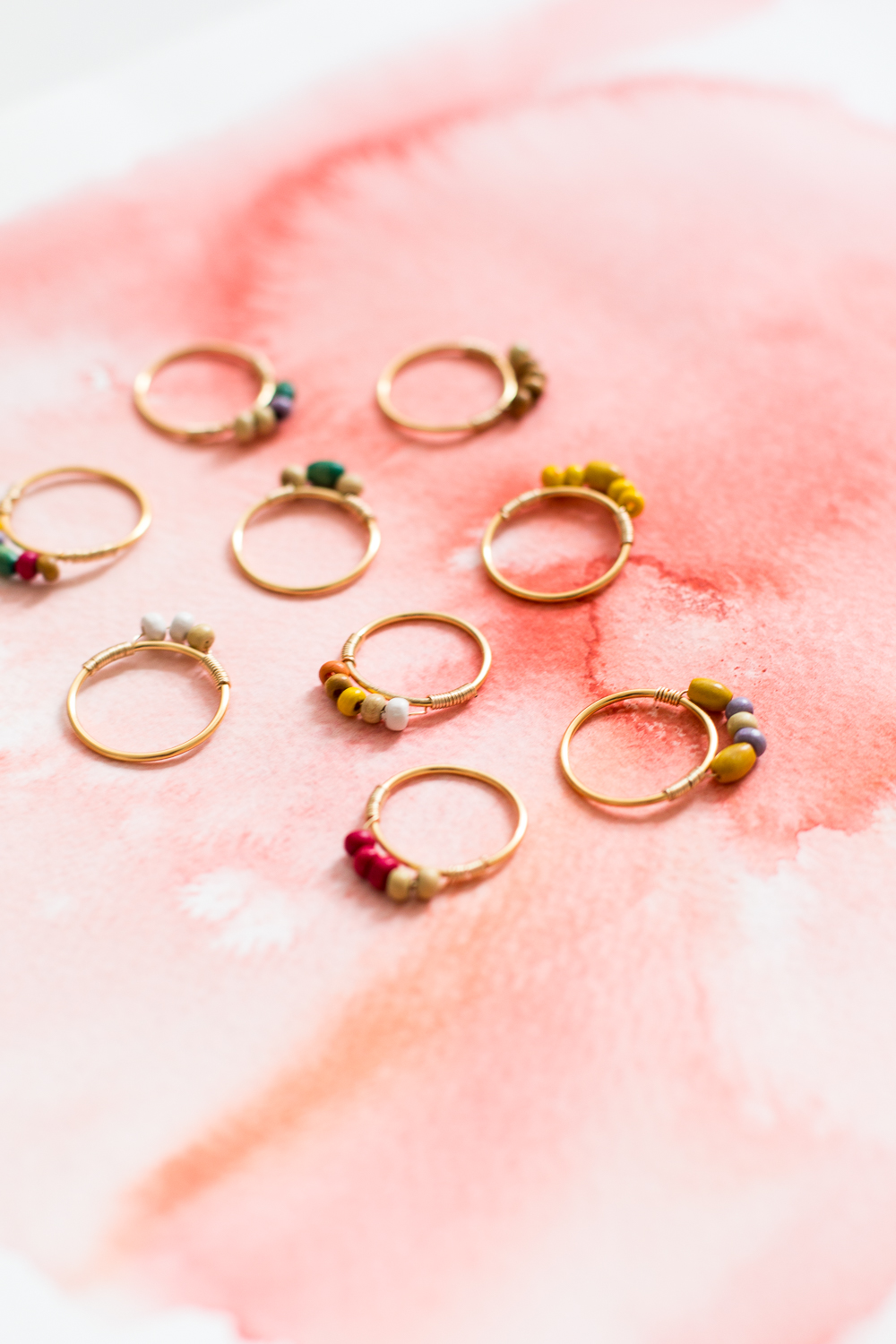 DIY Mini Beaded Rings | @fallfordiy