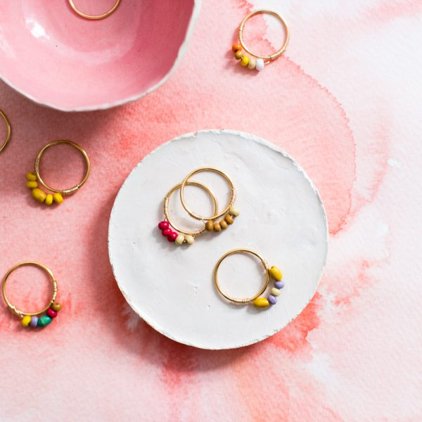 DIY Mini Beaded Rings