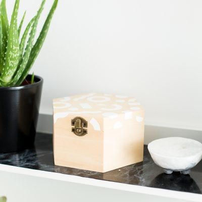 DIY Patterned Wooden Box
