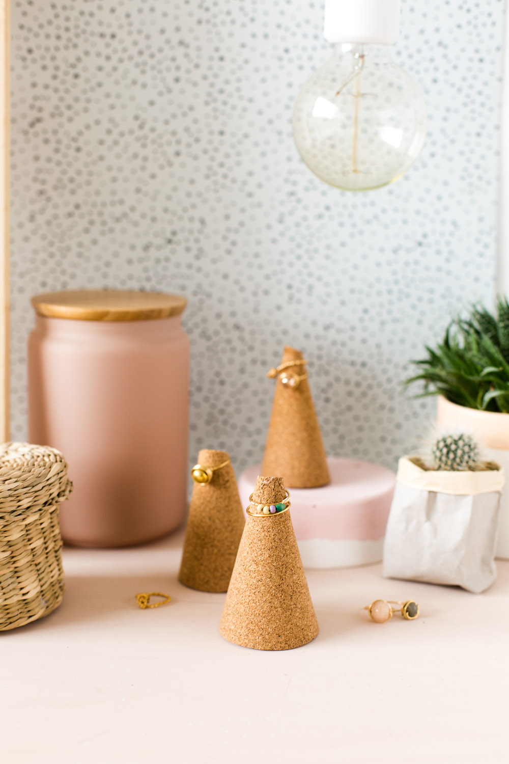 DIY Five Minute Make Cork Ring Cones | @fallfordiy