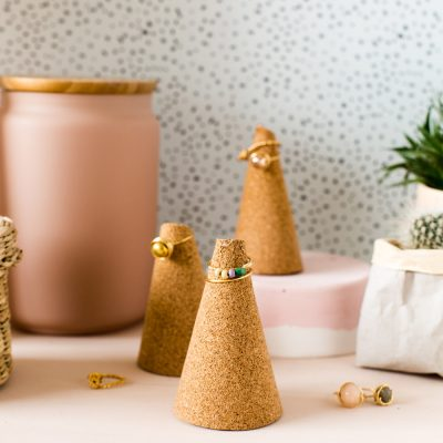 DIY Five Minute Make Cork Ring Cones
