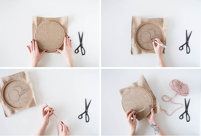 DIY Punch Rug Artwork for Beginners tutorial | @fallfordiy