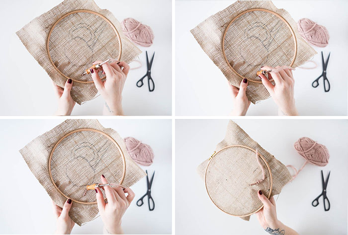 DIY Punch Rug Artwork for Beginners tutorial how to | @fallfordiy
