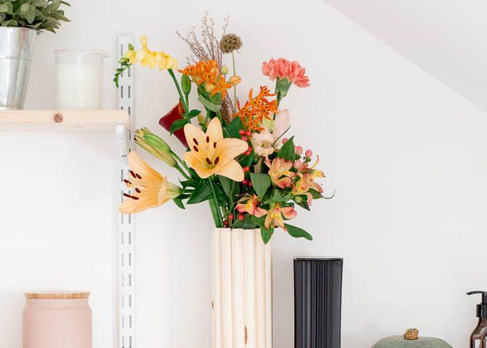 DIY Wooden Vase
