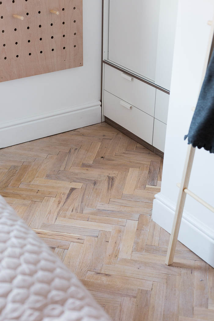 How I laid Parquet Flooring in the Bedroom