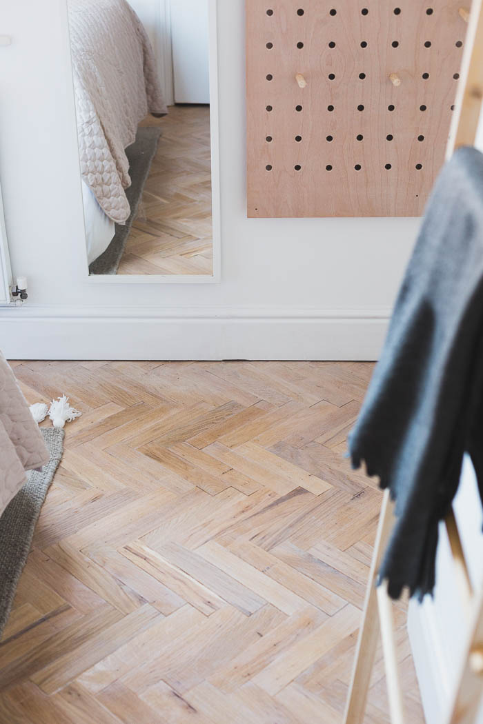 How I Laid Parquet Flooring In Our Bedroom Fall For DIY - What to do with parquet flooring
