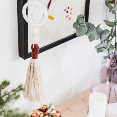 DIY Air Dry Clay Hanging Christmas Ornaments | @fallfordiy