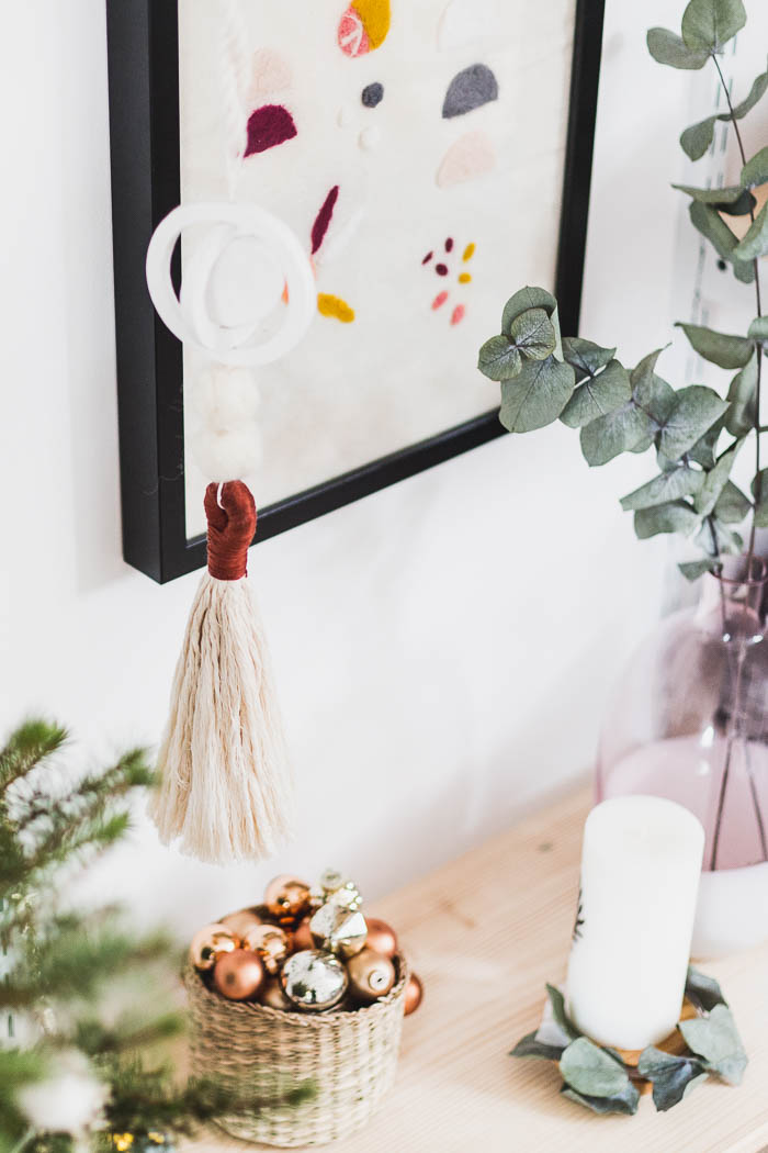 DIY Air Dry Clay Hanging Festive Ornaments | @fallfordiy