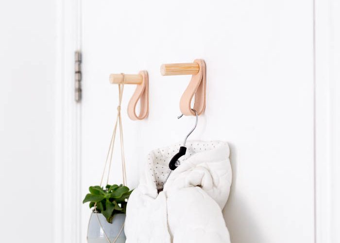 DIY Wood & Leather Door Hook