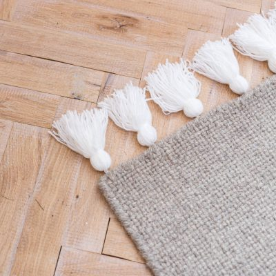 DIY Easy Tasseled Rug