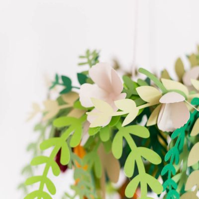 DIY Paper Floral Mobile with Hobbycraft