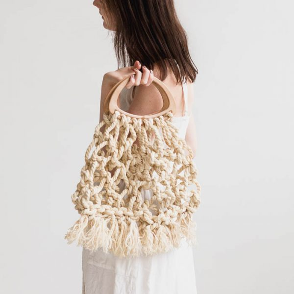 How to Make this DIY Macrame Tote Bag using Jute