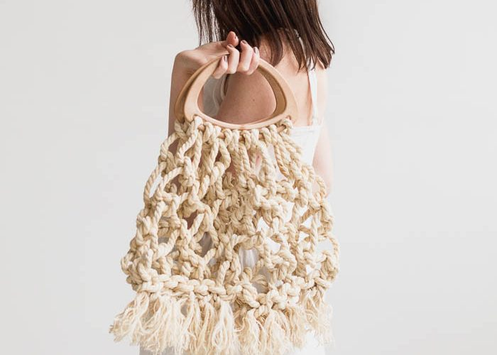 How to Make this DIY Macrame Tote Bag using Jute