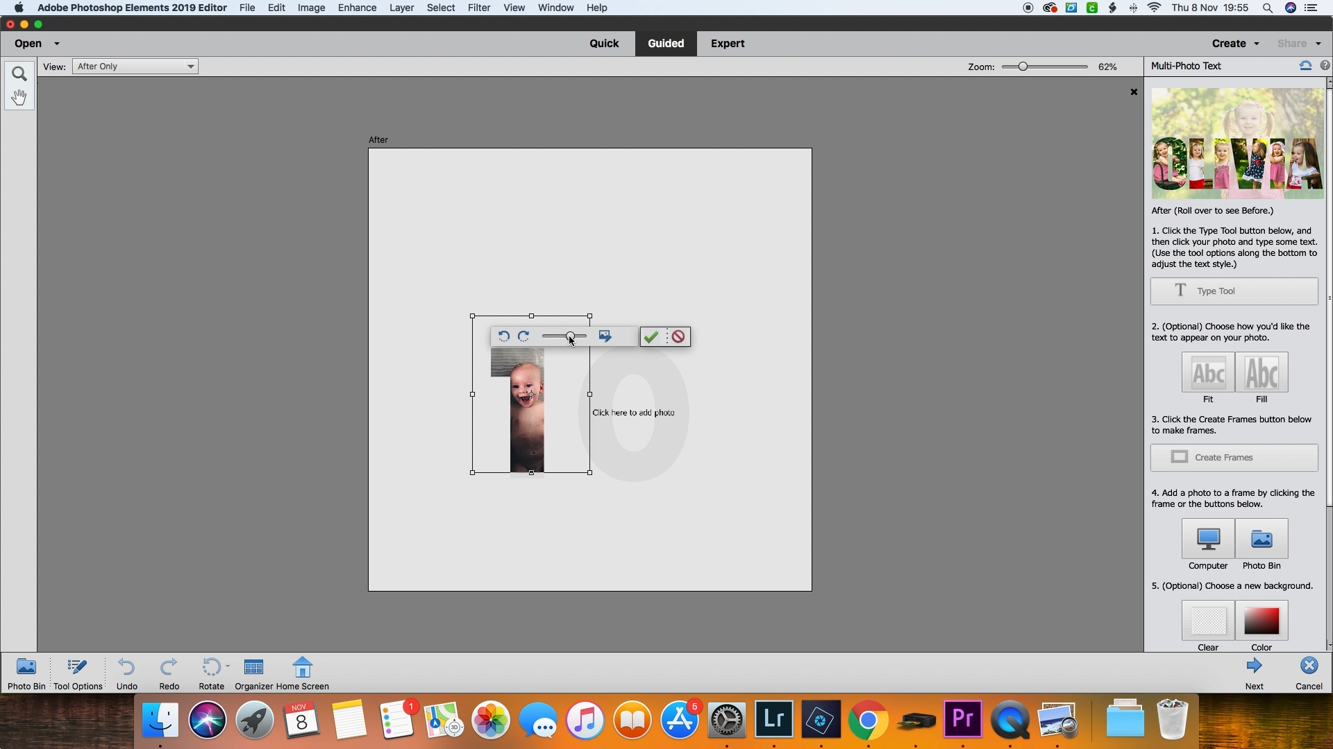 DIY Photo Tree Advent Calendar made with Adobe Photoshop Elements ...