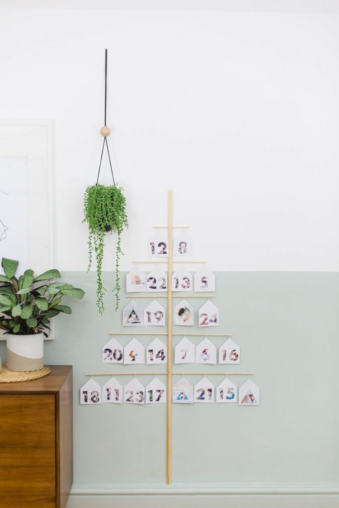 DIY Photo Tree Advent Calendar
