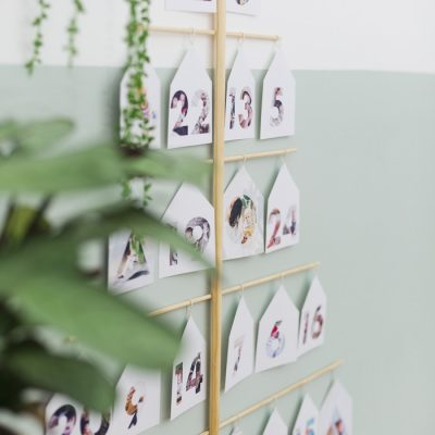 DIY Photo Tree Advent Calendar made with Adobe Photoshop Elements