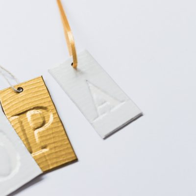 DIY Faux Embossed Gift Tags