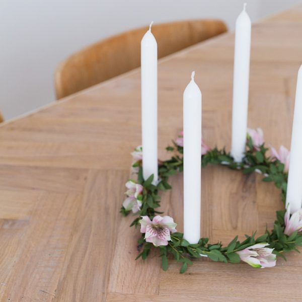 DIY Floral Candle Ring