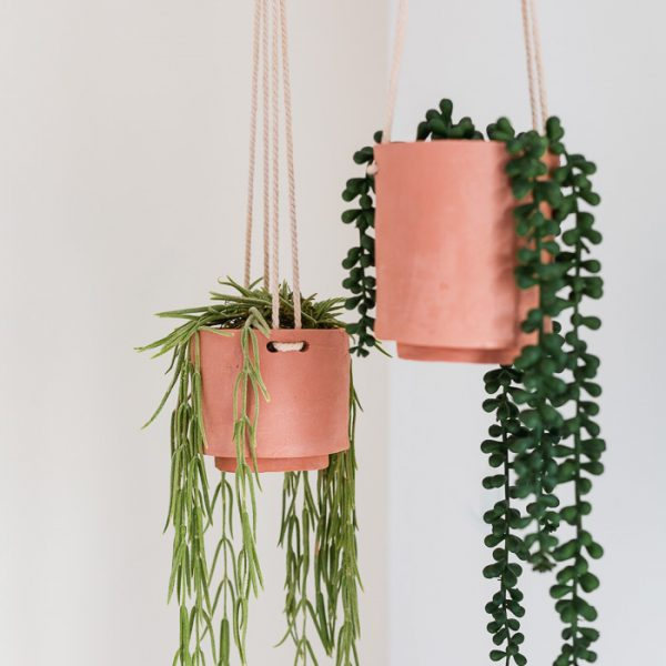 DIY Terracotta Clay Hanging Planters