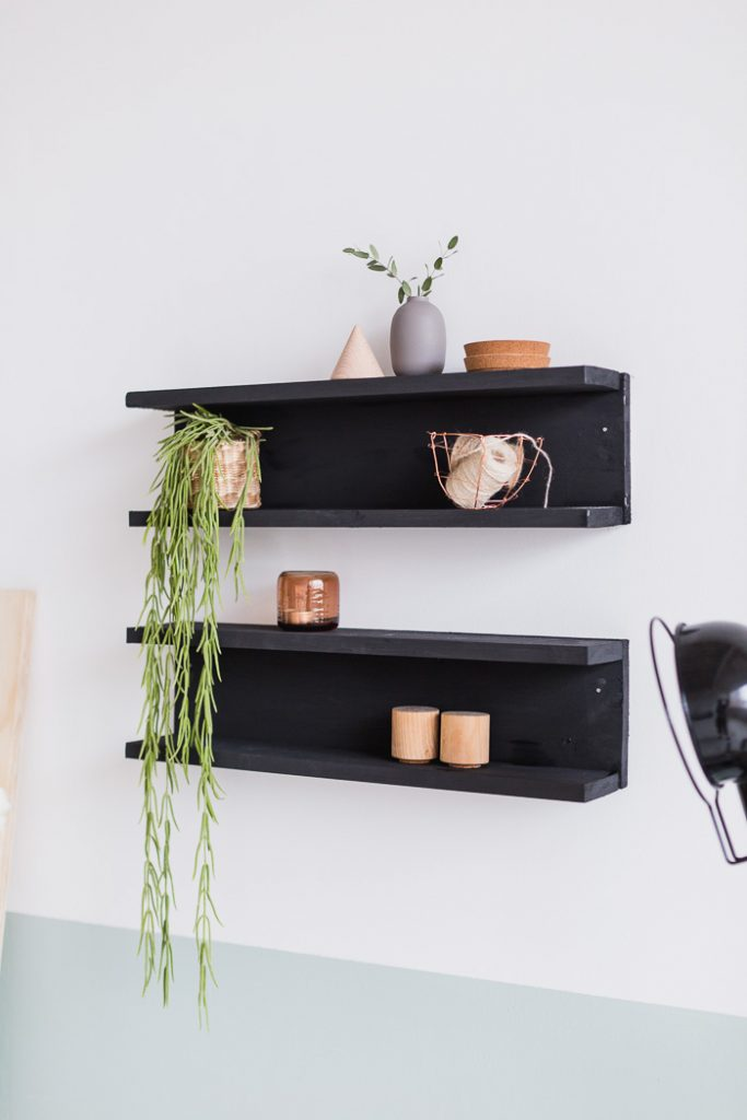 DIY Painted Shelving with Vintage Paints
