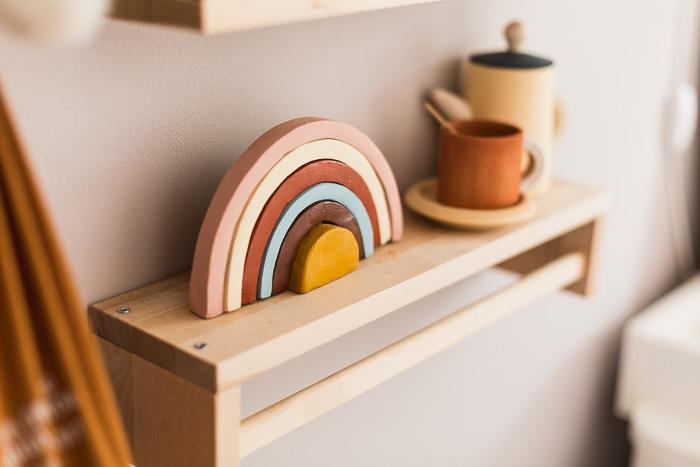 DIY Air Dry Clay Earthy Rainbow