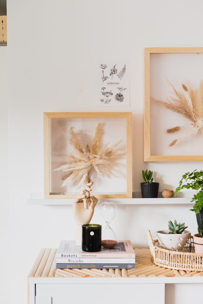 DIY Dried Grasses Suspended Framed Art
