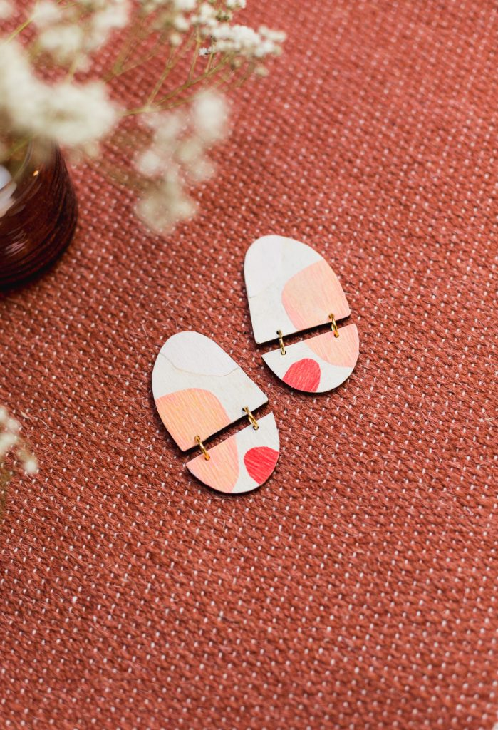 DIY Decoupage Wooden Jewellery