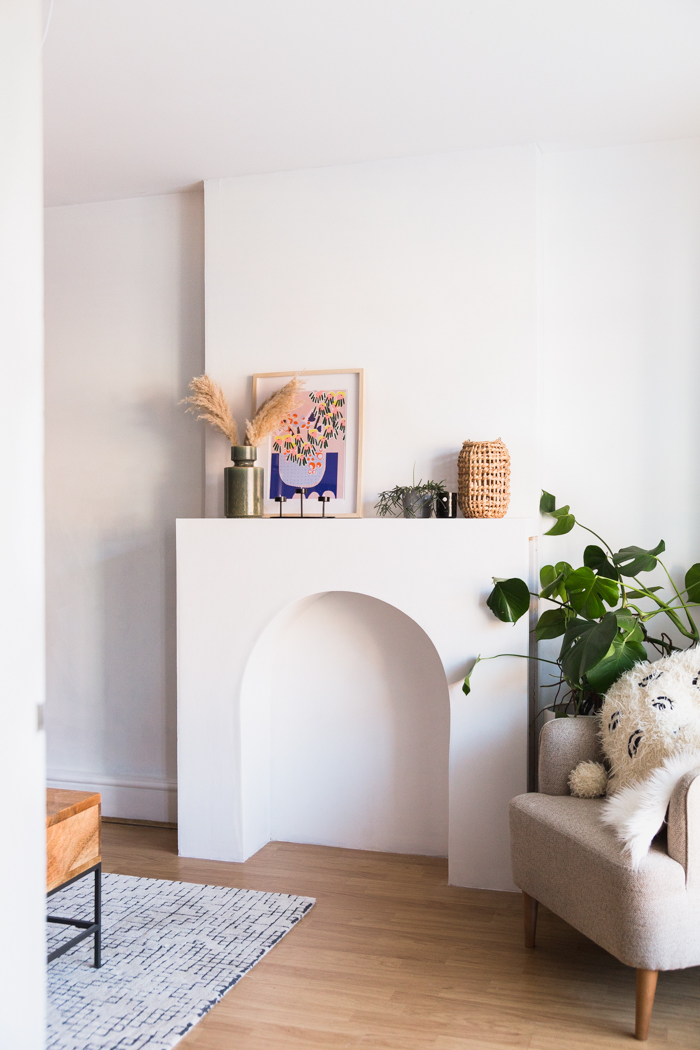Diy Arched Faux Fireplace Fall For Diy